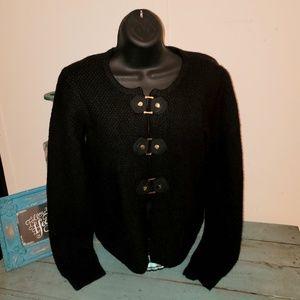 Cynthia Rowley Sz S Black Textured Cardigan